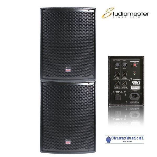 Studiomaster Drive 15SA Active / Powered Sub Speakers x2 500W DRIVE15SA  - PAIR